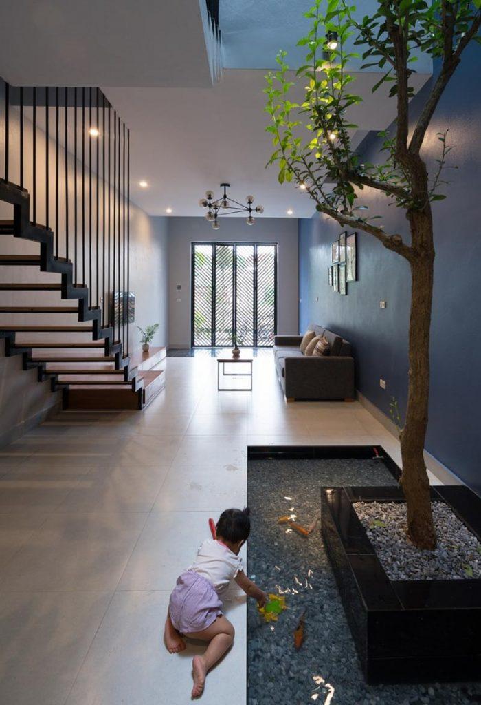 1001 giai phap thiet ke nha pho phan 1 gieng troi trong nha 40 700x1024 - 1001 giải pháp thiết kế nhà phố đẹp ( phần 1): giếng trời trong nhà