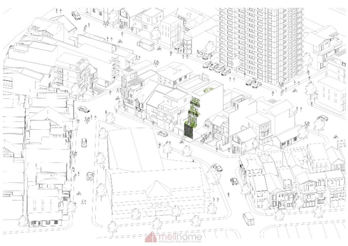 House 304 Ngôi nhà phố đẹp 40m2 với giếng trời đầy nắng 22 - House 304: Ngôi nhà phố đẹp 40m2 với giếng trời đầy nắng