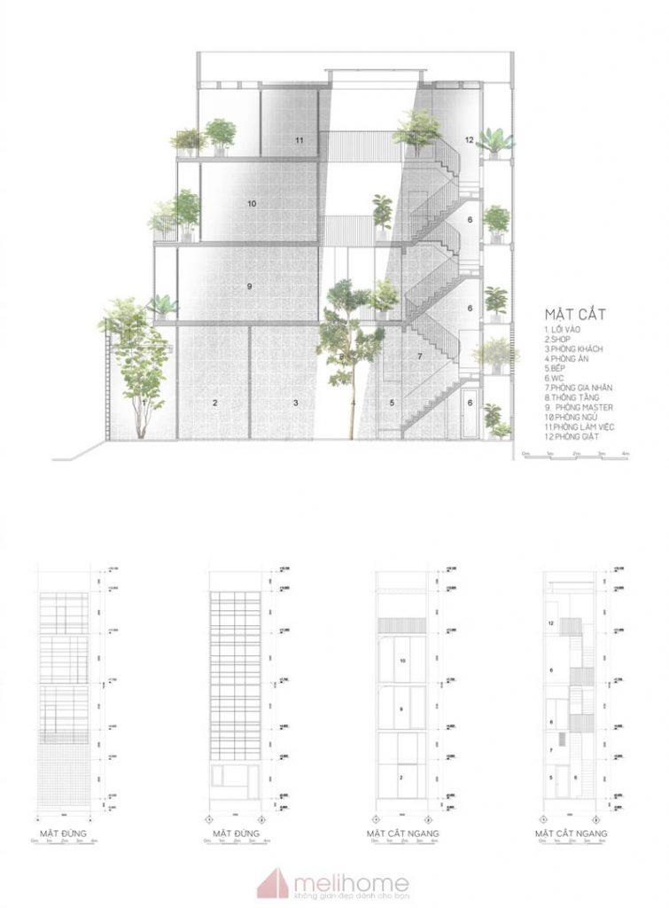 House 304 Ngôi nhà phố đẹp 40m2 với giếng trời đầy nắng 24 755x1024 - House 304: Ngôi nhà phố đẹp 40m2 với giếng trời đầy nắng