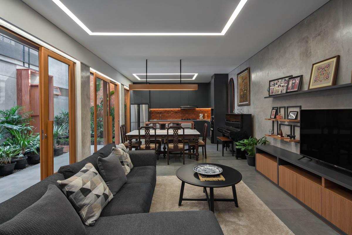 Rumah Beton House ngôi nhà phố đẹp với sự riêng tư tối đa 11 - Rumah Beton House: mẫu thiết kế nhà phố đẹp với sự riêng tư tối đa