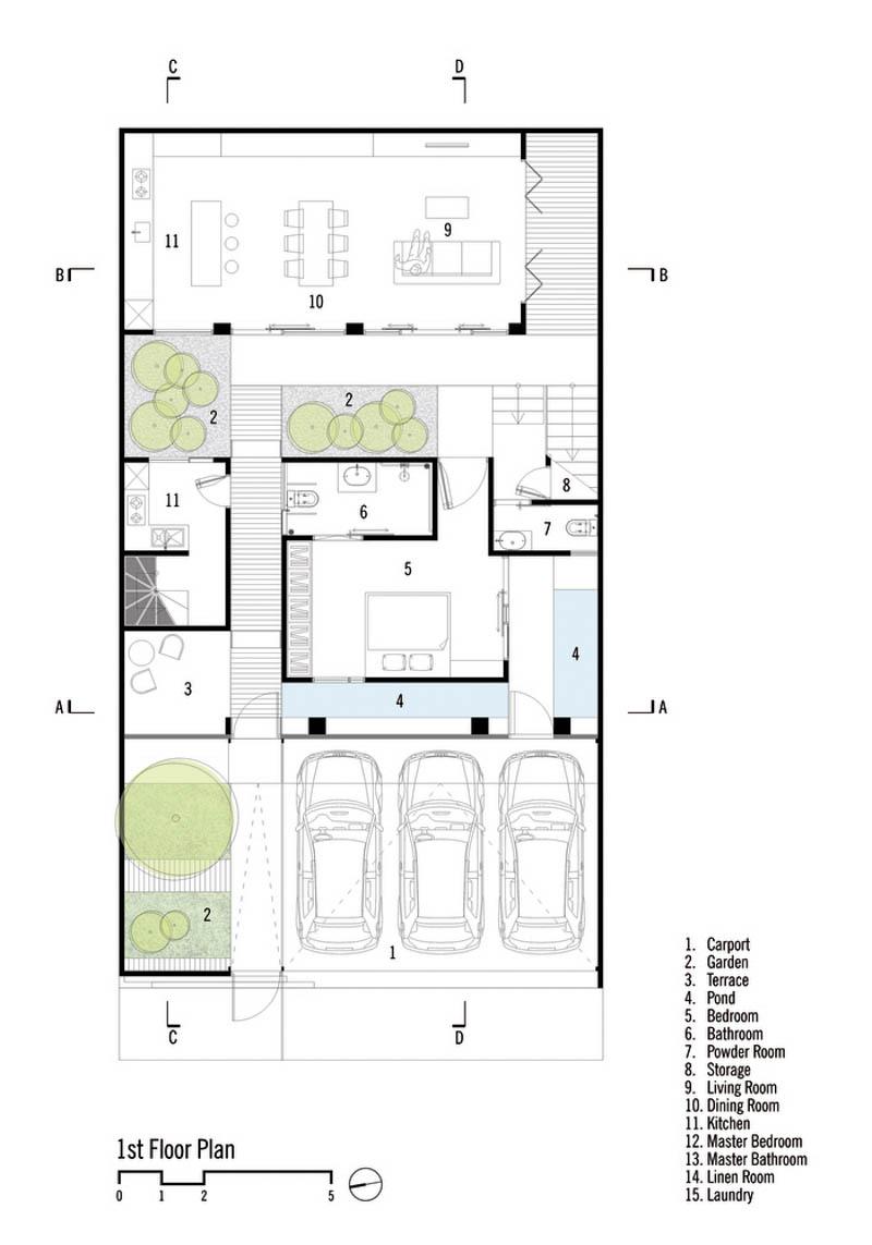 Rumah Beton House ngôi nhà phố đẹp với sự riêng tư tối đa 3 - Rumah Beton House: mẫu thiết kế nhà phố đẹp với sự riêng tư tối đa