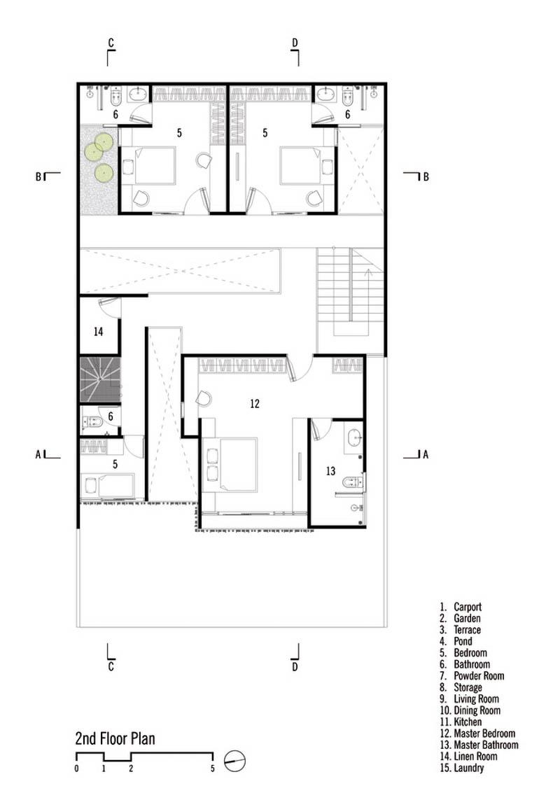 Rumah Beton House ngôi nhà phố đẹp với sự riêng tư tối đa 4 - Rumah Beton House: mẫu thiết kế nhà phố đẹp với sự riêng tư tối đa