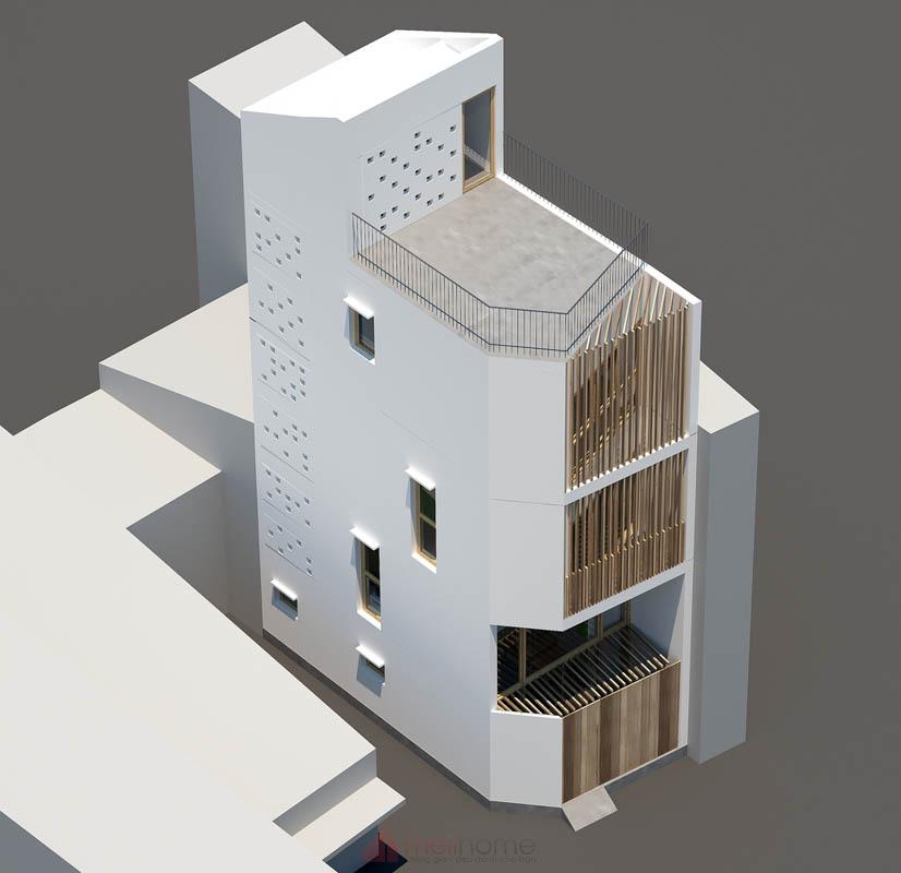 Thiết Kế Nhà Nhỏ Đẹp 30m2 tại Sài Gòn 17 - Micro Town House 4x8m: Thiết kế nhà nhỏ đẹp 30m2 đầy màu sắc tại Sài Gòn